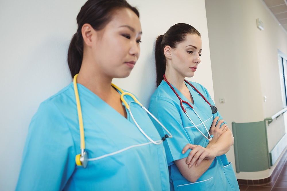 Exhausted and overworked nurses may put patients at risk.