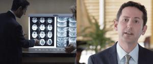 Dr. Kramer reviewing medical imaging